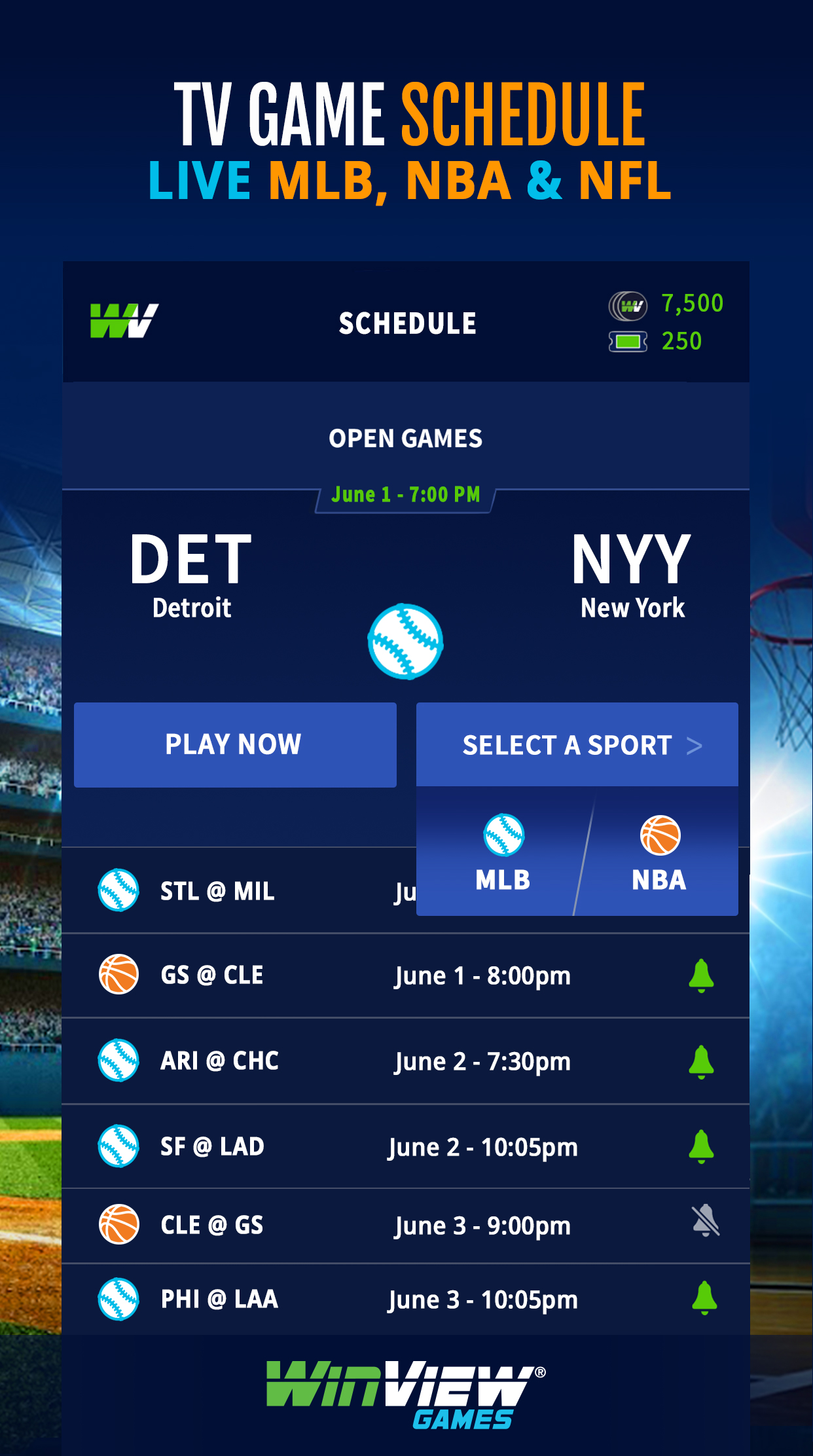 WinView Predict MLB Action Live
