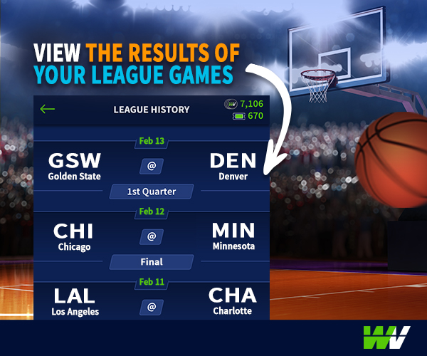 WinView NBA League Play