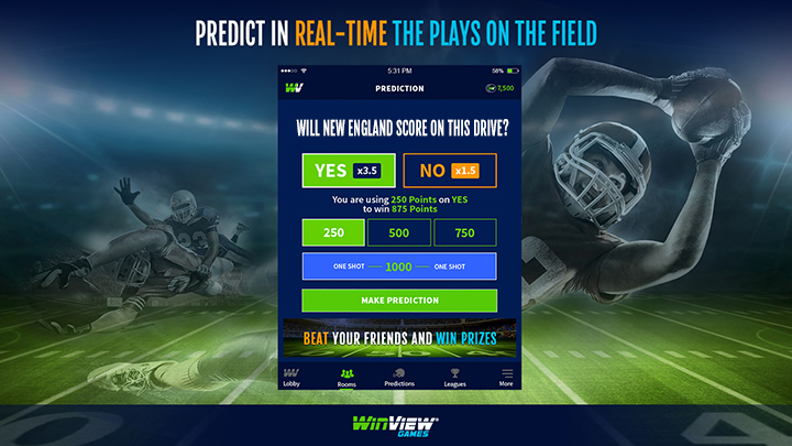 WinView Games Live Sports Predictions App