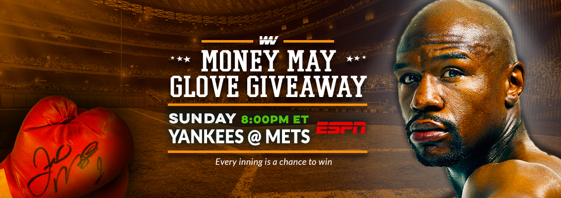WinView Money May Signed Glove Giveaway